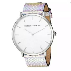 Rebecca Minkoff  Major Silver/White Holo Watch